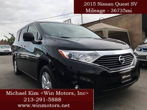 2015 Nissan Quest for sale at Win Motors Inc. in Los Angeles CA