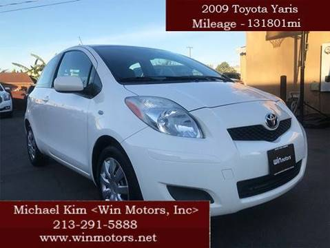 2009 Toyota Yaris for sale at Win Motors Inc. in Los Angeles CA