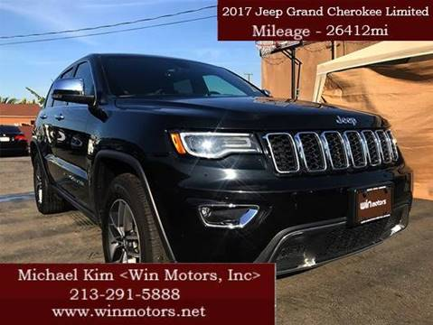 2017 Jeep Grand Cherokee for sale at Win Motors Inc. in Los Angeles CA