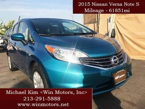 2015 Nissan Versa Note for sale at Win Motors Inc. in Los Angeles CA