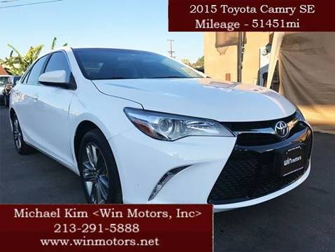 2015 Toyota Camry for sale at Win Motors Inc. in Los Angeles CA