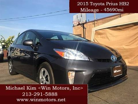 2015 Toyota Prius for sale at Win Motors Inc. in Los Angeles CA