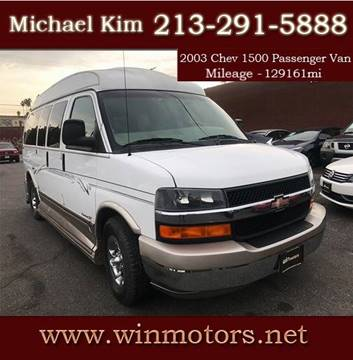 2003 Chevrolet Express Cargo for sale at Win Motors Inc. in Los Angeles CA
