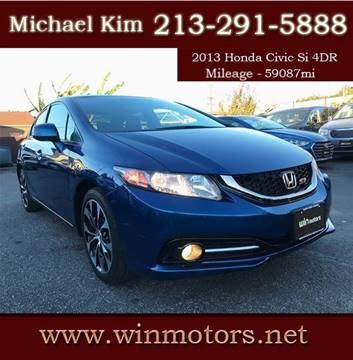 2013 Honda Civic for sale at Win Motors Inc. in Los Angeles CA
