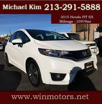 2015 Honda Fit for sale at Win Motors Inc. in Los Angeles CA
