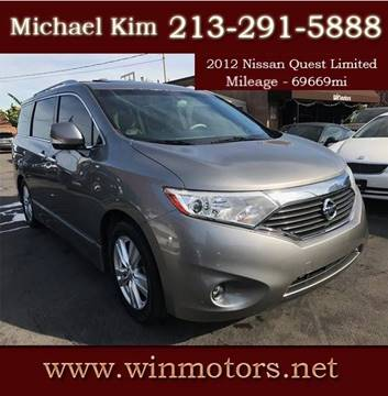 2012 Nissan Quest for sale at Win Motors Inc. in Los Angeles CA