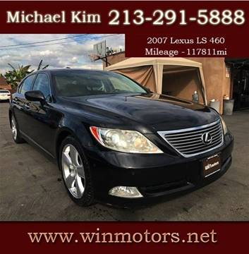 2007 Lexus LS 460 for sale at Win Motors Inc. in Los Angeles CA