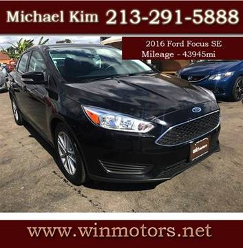2016 Ford Focus for sale at Win Motors Inc. in Los Angeles CA