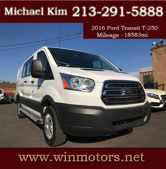 2016 Ford Transit Cargo 250 3dr Swb Low Roof Cargo Van W