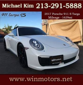 2017 Porsche 911 for sale at Win Motors Inc. in Los Angeles CA