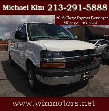 2016 Chevrolet Express Passenger for sale at Win Motors Inc. in Los Angeles CA