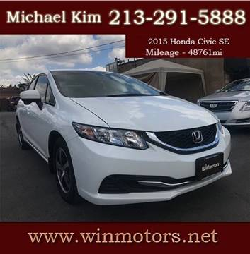2015 Honda Civic for sale at Win Motors Inc. in Los Angeles CA