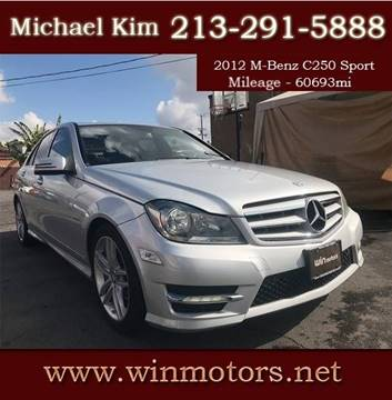 2012 Mercedes-Benz C-Class for sale at Win Motors Inc. in Los Angeles CA
