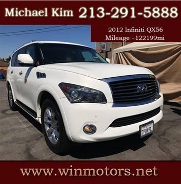 2012 Infiniti QX56 for sale at Win Motors Inc. in Los Angeles CA