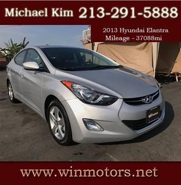 2013 Hyundai Elantra for sale at Win Motors Inc. in Los Angeles CA