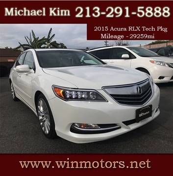 2015 Acura RLX for sale at Win Motors Inc. in Los Angeles CA