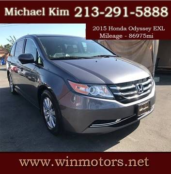 2015 Honda Odyssey for sale at Win Motors Inc. in Los Angeles CA