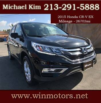 2015 Honda CR-V for sale at Win Motors Inc. in Los Angeles CA