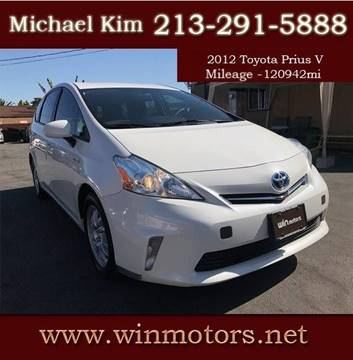 2012 Toyota Prius v for sale at Win Motors Inc. in Los Angeles CA