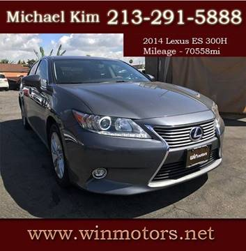 2014 Lexus ES 300h for sale at Win Motors Inc. in Los Angeles CA