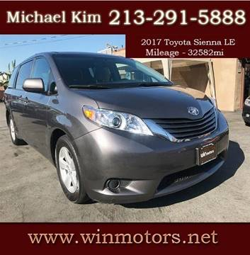 2017 Toyota Sienna for sale at Win Motors Inc. in Los Angeles CA