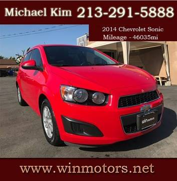 2014 Chevrolet Sonic for sale at Win Motors Inc. in Los Angeles CA