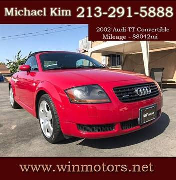 2002 Audi TT for sale at Win Motors Inc. in Los Angeles CA