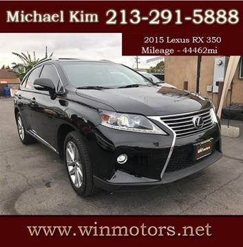 2015 Lexus RX 350 for sale at Win Motors Inc. in Los Angeles CA