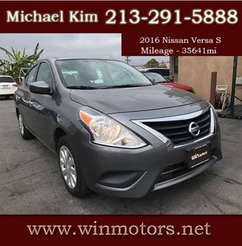 2016 Nissan Versa for sale at Win Motors Inc. in Los Angeles CA