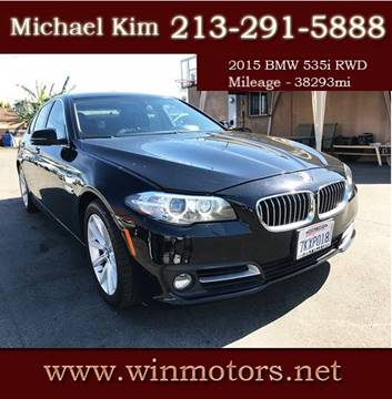 2015 BMW 5 Series for sale at Win Motors Inc. in Los Angeles CA