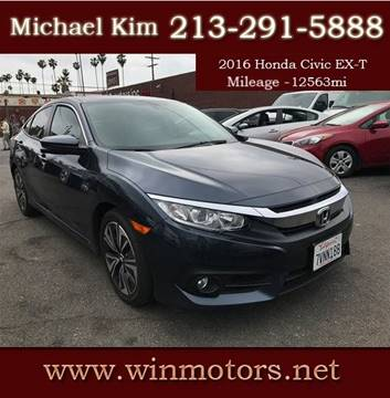 2016 Honda Civic for sale at Win Motors Inc. in Los Angeles CA