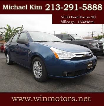 2008 Ford Focus for sale at Win Motors Inc. in Los Angeles CA