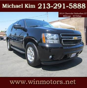 2014 Chevrolet Suburban for sale at Win Motors Inc. in Los Angeles CA