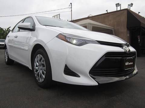 2017 Toyota Corolla for sale at Win Motors Inc. in Los Angeles CA