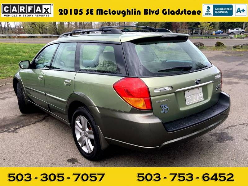 2005 subaru outback 3. 0 r l. L. Bean edition awd 4dwagon in portland.