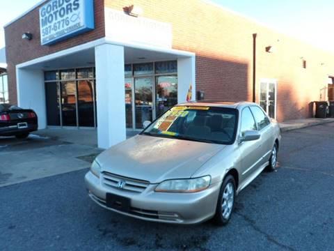 2002 Honda Accord for sale at Gordon Motor Auto Sales Inc. in Norfolk VA