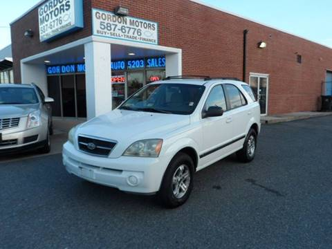 2003 Kia Sorento for sale at Gordon Motor Auto Sales Inc. in Norfolk VA