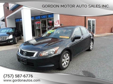 2008 Honda Accord for sale at Gordon Motor Auto Sales Inc. in Norfolk VA