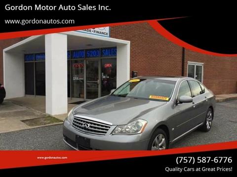 2006 Infiniti M35 for sale at Gordon Motor Auto Sales Inc. in Norfolk VA
