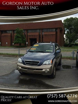 2003 Kia Sorento for sale at Gordon Motor Auto Sales Inc. in Norfolk VA