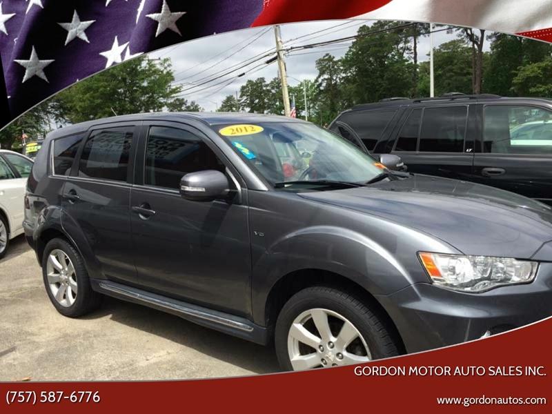 2012 Mitsubishi Outlander for sale at Gordon Motor Auto Sales Inc. in Norfolk VA