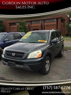 2003 Honda Pilot for sale at Gordon Motor Auto Sales Inc. in Norfolk VA