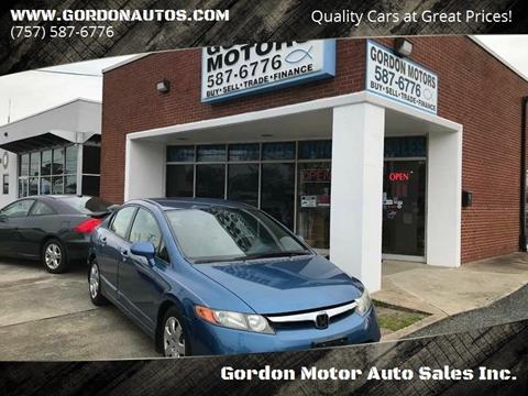 Honda Civic For Sale In Norfolk Va Gordon Motor Auto