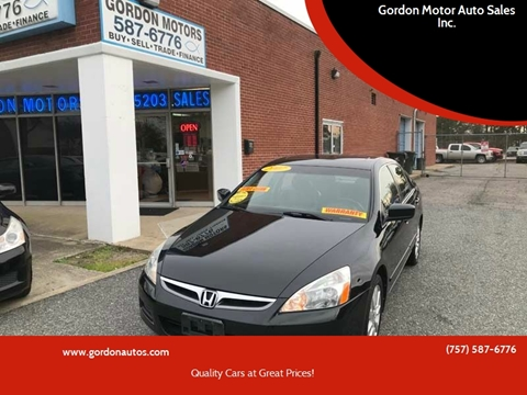 2007 Honda Accord for sale at Gordon Motor Auto Sales Inc. in Norfolk VA