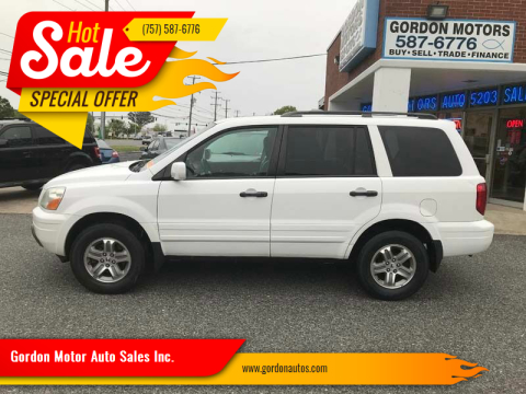 2005 Honda Pilot for sale at Gordon Motor Auto Sales Inc. in Norfolk VA