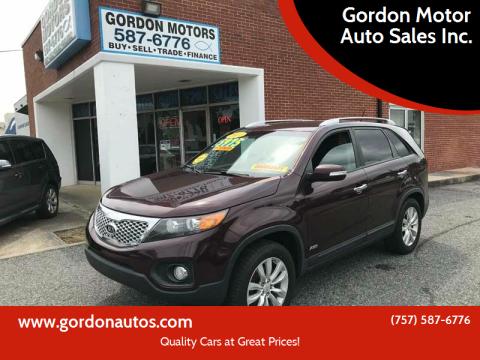 2011 Kia Sorento for sale at Gordon Motor Auto Sales Inc. in Norfolk VA