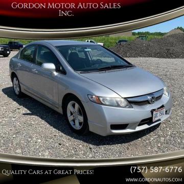 2009 Honda Civic for sale at Gordon Motor Auto Sales Inc. in Norfolk VA