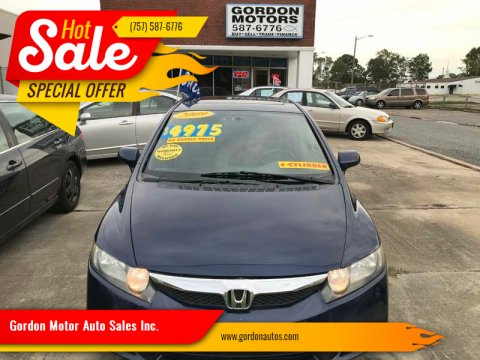 2009 Honda Civic for sale at Gordon Motor Auto Sales Inc. in Norfolk VA