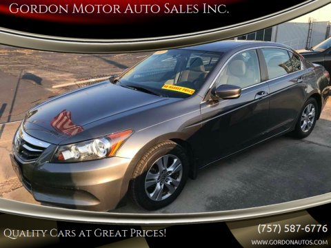 2011 Honda Accord for sale at Gordon Motor Auto Sales Inc. in Norfolk VA