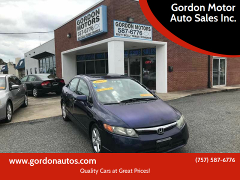 2008 Honda Civic for sale at Gordon Motor Auto Sales Inc. in Norfolk VA